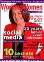 Working Women magazine cover winter 2010
