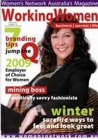 Working women Magazine cover winter 2009