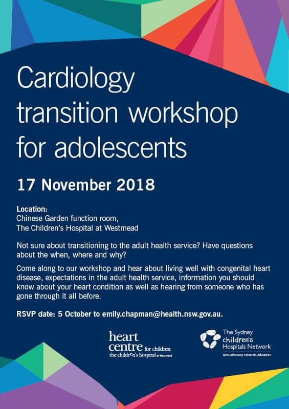 Cardiology transition workshop for adolescents