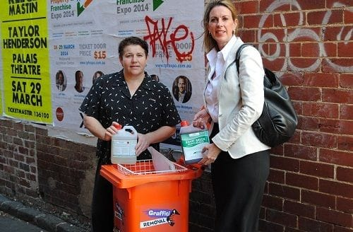 Oakleigh traders get help with graffiti removal