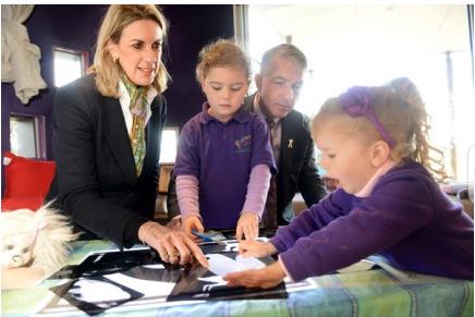 Packenham visit to the Henry Family Centre