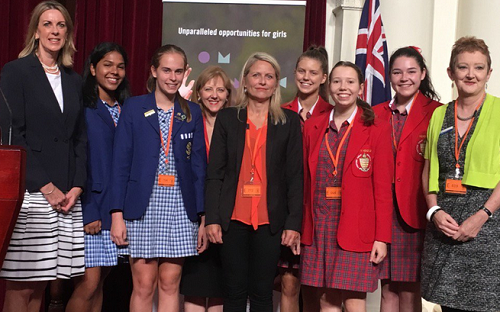 Girls schools at Parliament House for International Women's Day