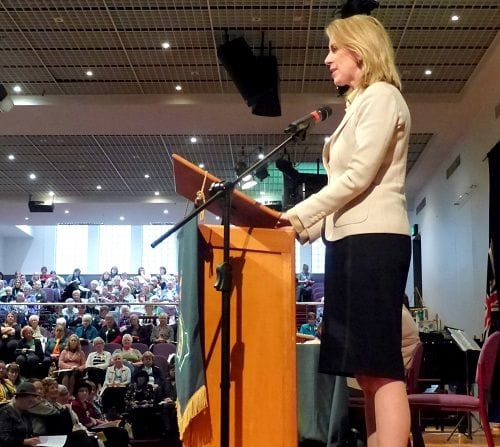 Speaking to 600 CWA members in Melbourne
