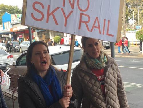 Protesting - NO to Sky Rail