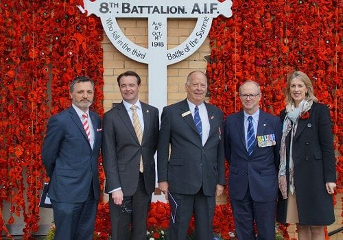 In memory of the Third Battle of the Somme in July and August 1918