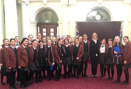 Siena College, Camberwell visit Parliament House