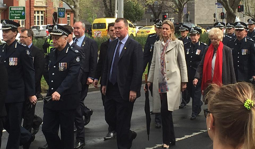 Marching with police to recognise those who have given so much