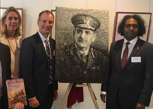Sir John Monash mosaic revealed