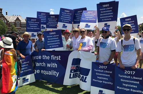 Pride March 2018 with the Liberal Australia team