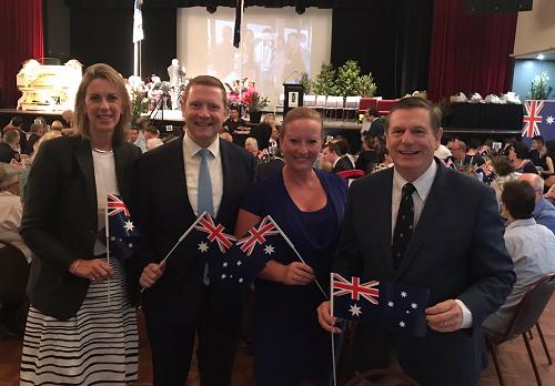 Australia Day celebrations at the Kingston City Council Breakfast