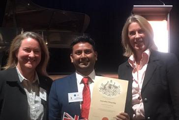 Congratulating new Australian Citizens in Boroondara