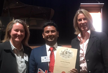 Congratulating new Australian Citizens in Boroondara