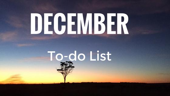 December To-Do List