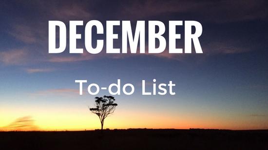 December To-Do List