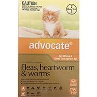 Bayer Advocate Cat and Kitten Flea & Worm Treatment Small - 4kg