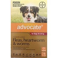Bayer Advocate Flea & Worm Treatment Dogs 10 - 25kg