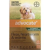 Bayer Advocate Flea & Worm Treatment Small & Pups 0 - 4kg