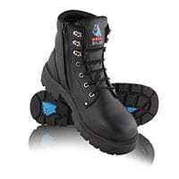 Steel Blue Boots Argyle Zip Black