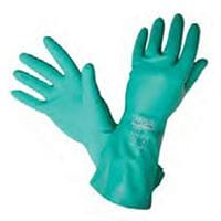 Silvershield Green Nitrile Chemical Resistant Gloves 45cm