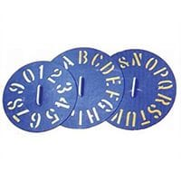 Bainbridge Clockface Plastic Stencils A-Z each