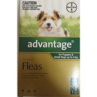 Bayer Advantage Flea Treatment Small Dog & Pups 0 -4kg