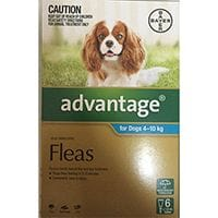 Bayer Advantage Flea Treatment Dogs 4 - 10kg