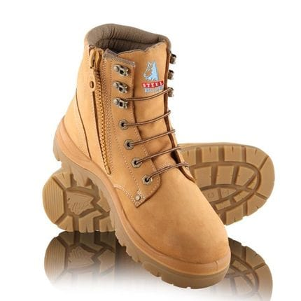 Steel Blue Boots Argyle Zip Wheat