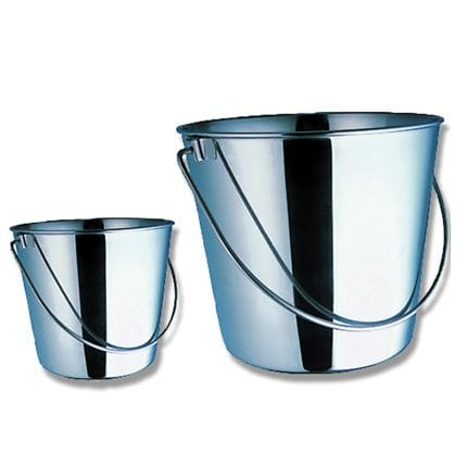 Bainbridge Stainless Steel Bucket - 10 Litre