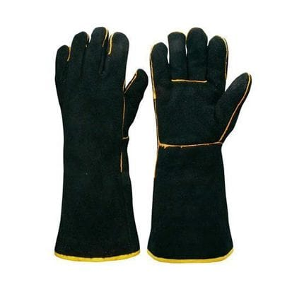 Black & Gold Welders Gauntlet Gloves