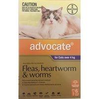 Bayer Advocate Flea & Worm Treatment  Cats 4kg plus
