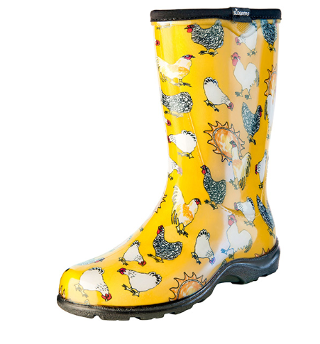 Sloggers  Women's Splash Boots Chicken Print