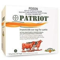 Bayer Patriot Insecticide Ear Tag for Cattle - Pk 50