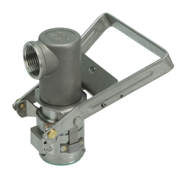 Micromatic 3 Pin Dispense Coupler (90 Deg Outlet)