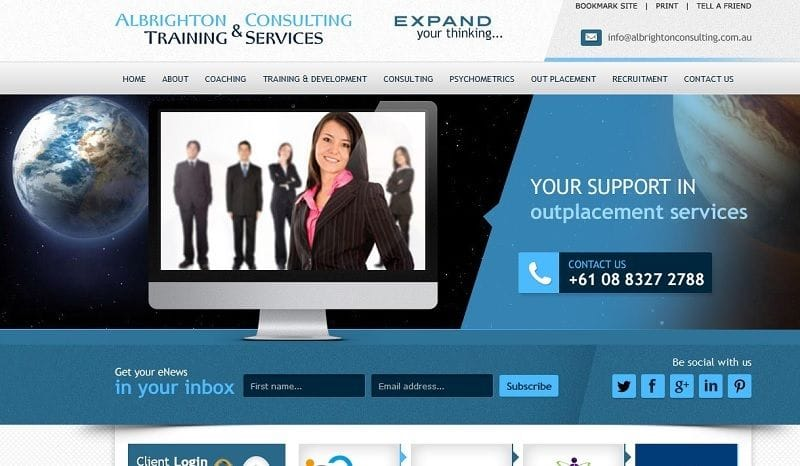 New Albrighton Consulting & Training Services Website