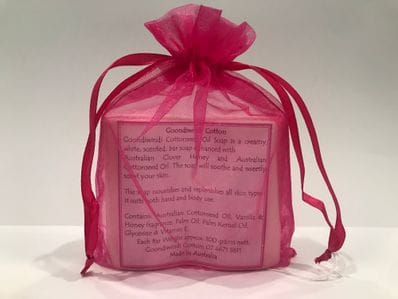 Goondiwindi Cotton Soap in Organza Bag