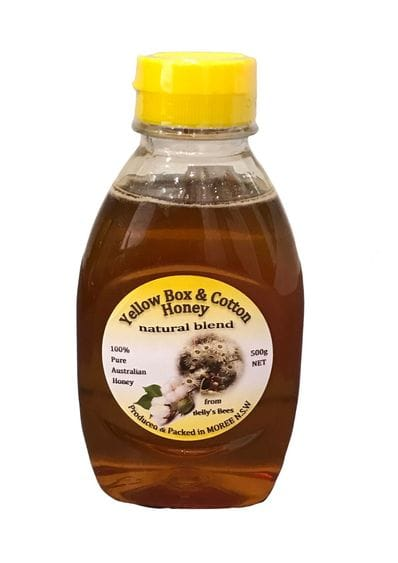 Belly's Bees Yellow Box & Cotton Honey 500g