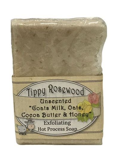 Tippy Rosewood Unscented Goats Milk, Oats, Coca Butter & Honey