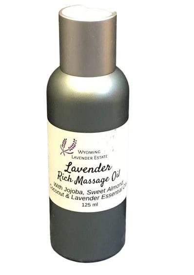 Wyoming Lavender Estate -  Lavender Rich Massage Oil 125ml