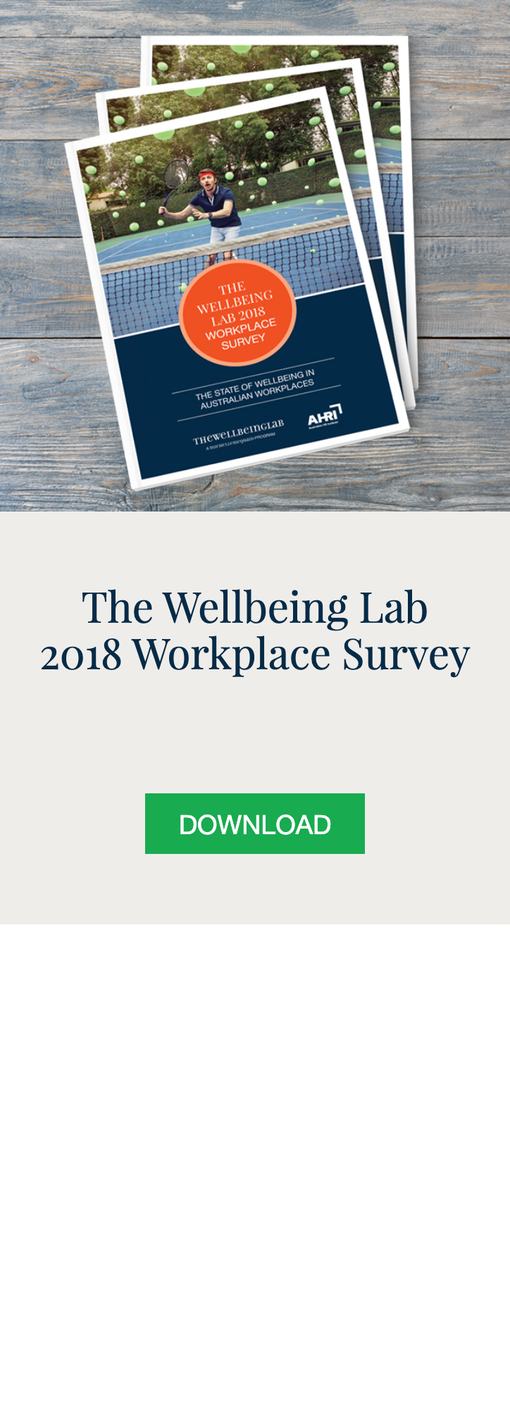 Personal and Workplace Wellbeing at Talent Tools