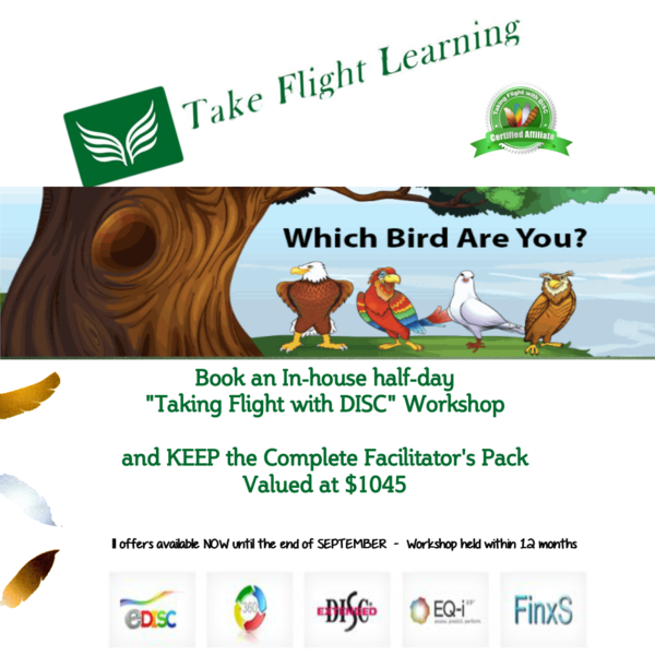 Taking Flight with DISC Workshops atnTalent Tools and Training