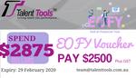 EOFY $2875 Voucher