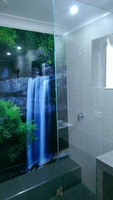 Bathroom wall panels acrylic bonethane digitalart glass for Acrylic windows cost