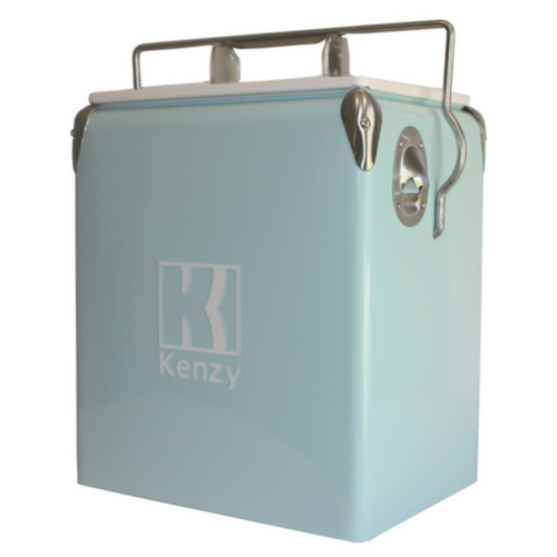 17L Baby Blue Retro Cooler