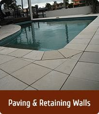 Paving, Pool Coping, Retaining walls, Skape structural Landscaping