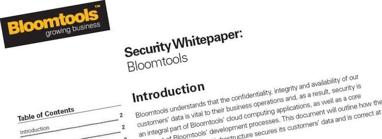 Bloomtools Security Whitepaper