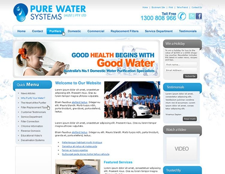 Client Spotlight - Pure Water Systems