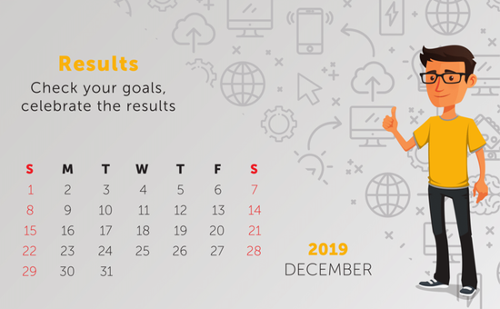 Tip: Check your goals and celebrate the results