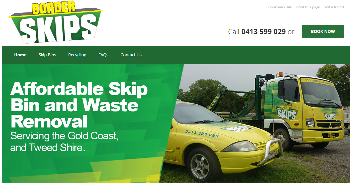 Border Skip Bins uses Bloomtools Search Engine Marketing services