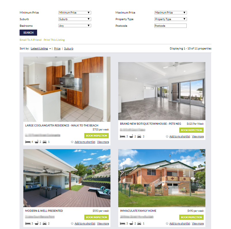 Real Estate Listing via InvestRent by Bloomtools