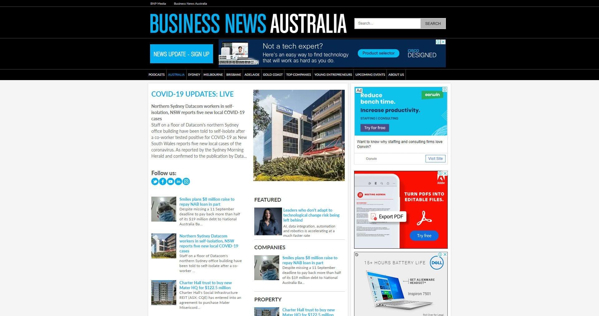 Business News Australia | Client Success Story